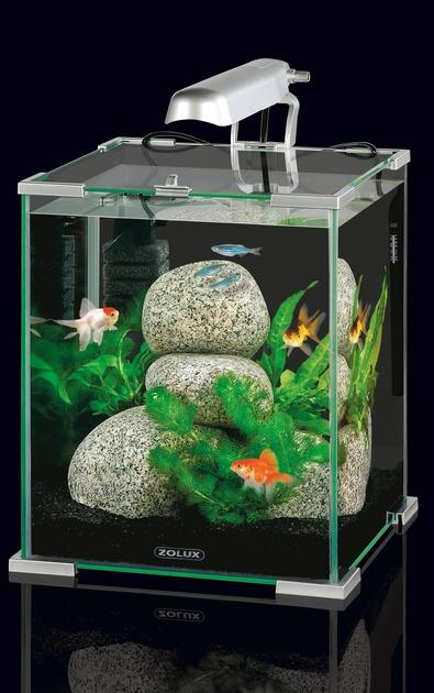 Nano aquarium zolux aqua nanolife cube 30 silver volume for Aquarium zolux