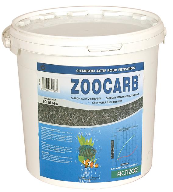 Charbon de filtration actizoo zoocarb 10l absorbe les for Boutique aquariophilie