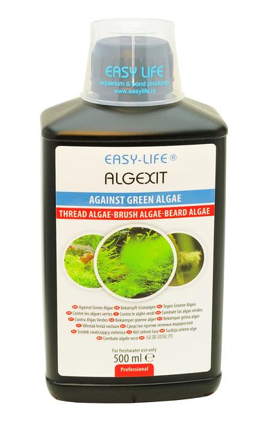 easy life algexit 500ml limine tous types d 39 algues vertes dans les aquariums traite jusqu 39. Black Bedroom Furniture Sets. Home Design Ideas