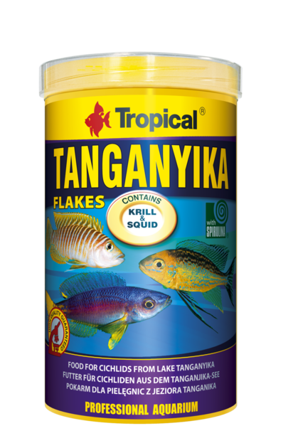 Tropical tanganyika 1000ml nourriture de base en flocons for Tropical nourriture poisson