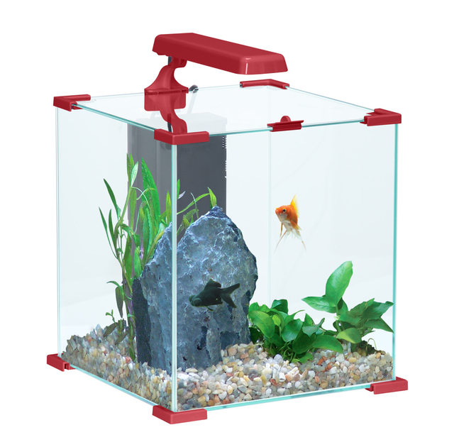 Zolux aqua nanolife cube 30 rouge nano aquarium 33 l tout for Aquarium en ligne