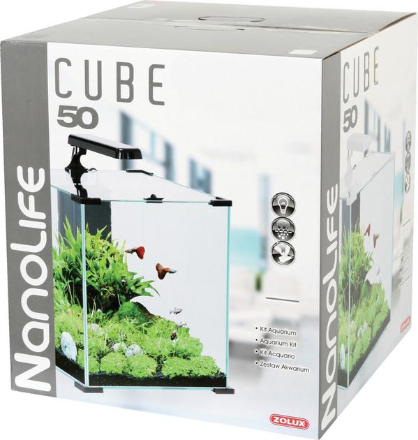 Zolux aqua nanolife cube 50 noir nano aquarium 51 l tout for Aquarium zolux
