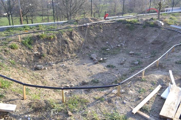 Construction d 39 un bassin de jardin avec b che epdm for Bache pour bassin 10x15