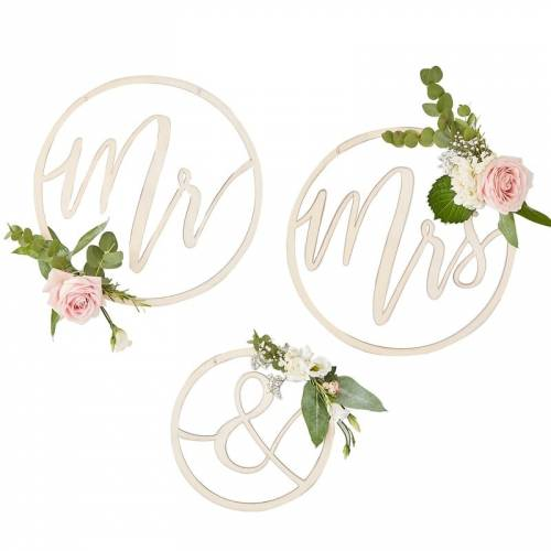 Cercles Mr & Mrs en bois