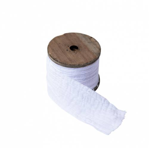 Ruban gaze de coton blanc