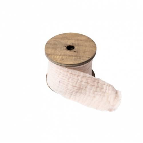 Ruban gaze de coton creme