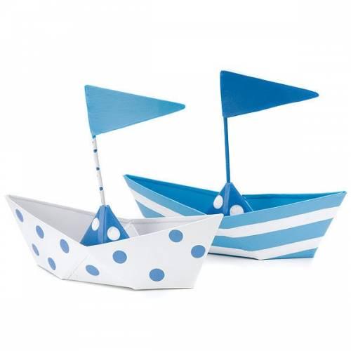 6 bateaux en métal