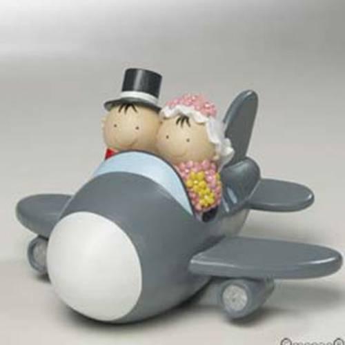 Figurine Mariage En avion