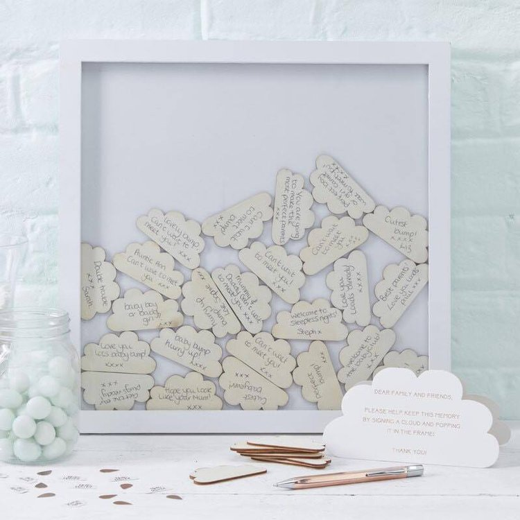 Livre d\'Or Cadre blanc et nuages original