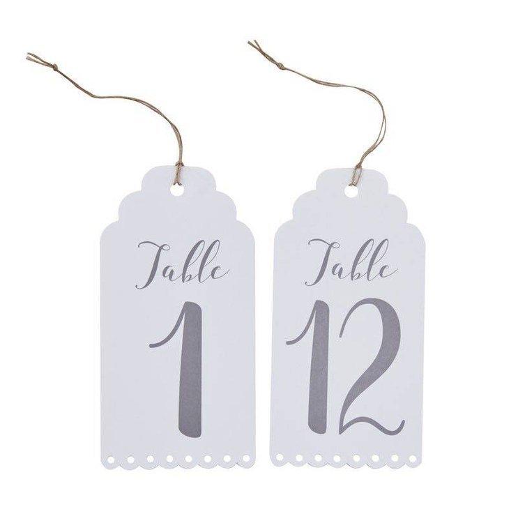 12 Numéros de table à accrocher
