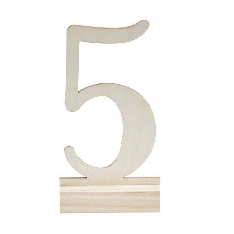 12 Numéros de table en bois de 1 à 12