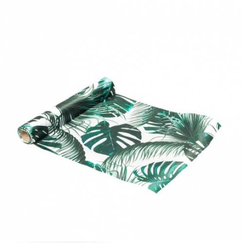 Chemin de table tropical satin