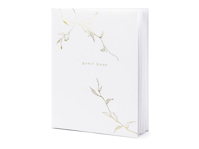 Livre d\'or blanc branchages dorés