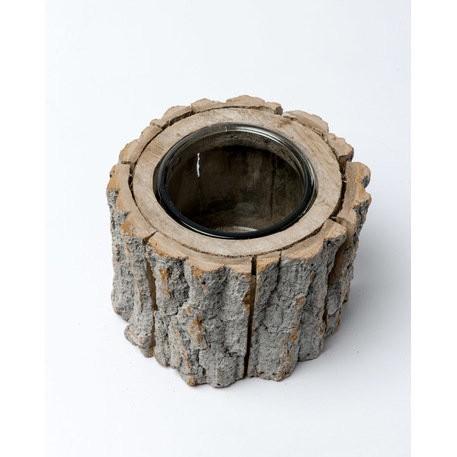 Photophore en bois grand modèle