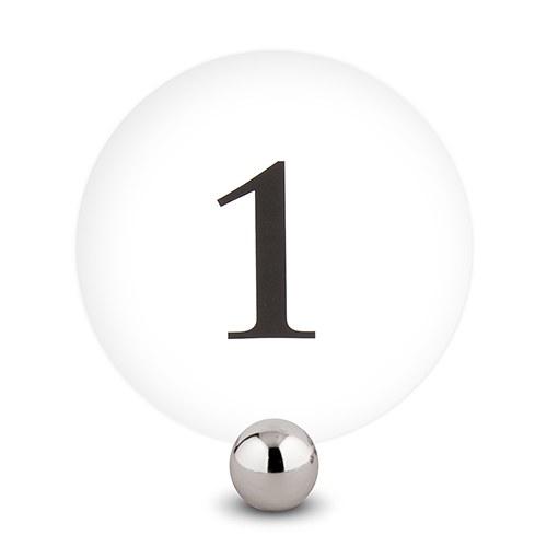 12 Numéros de table ronds