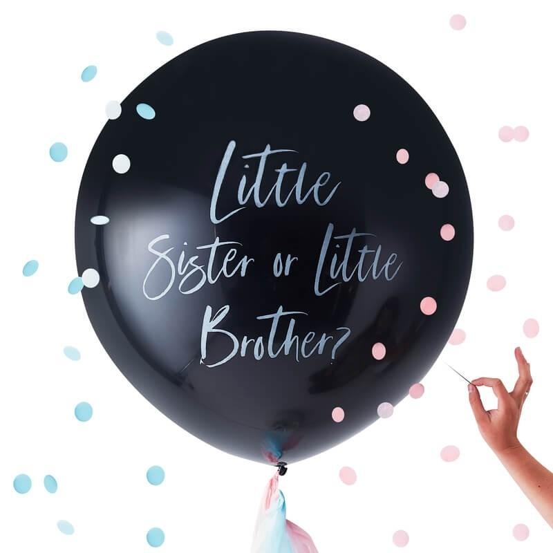 Ballon 91 cm pour révéler si petite sœur ou petit frère