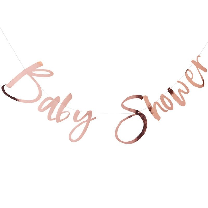 Guirlande Baby Shower rose gold