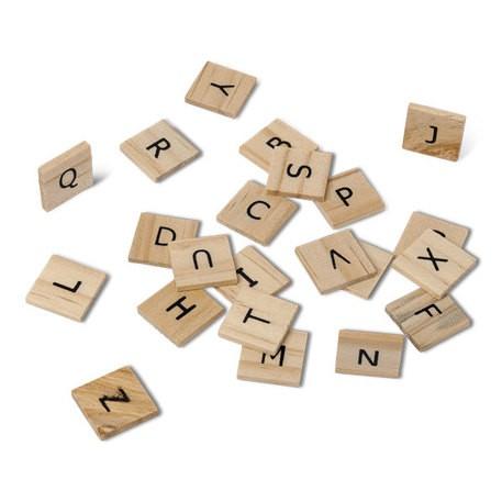 60 lettres esprit scrabble assorties