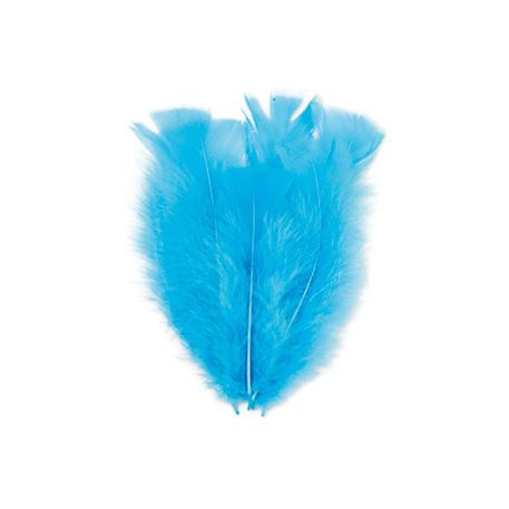 Lot de 18 belles plumes turquoise