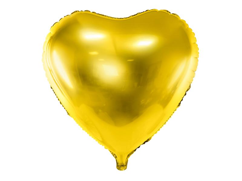 Ballon Mylar Coeur Doré 45 cm