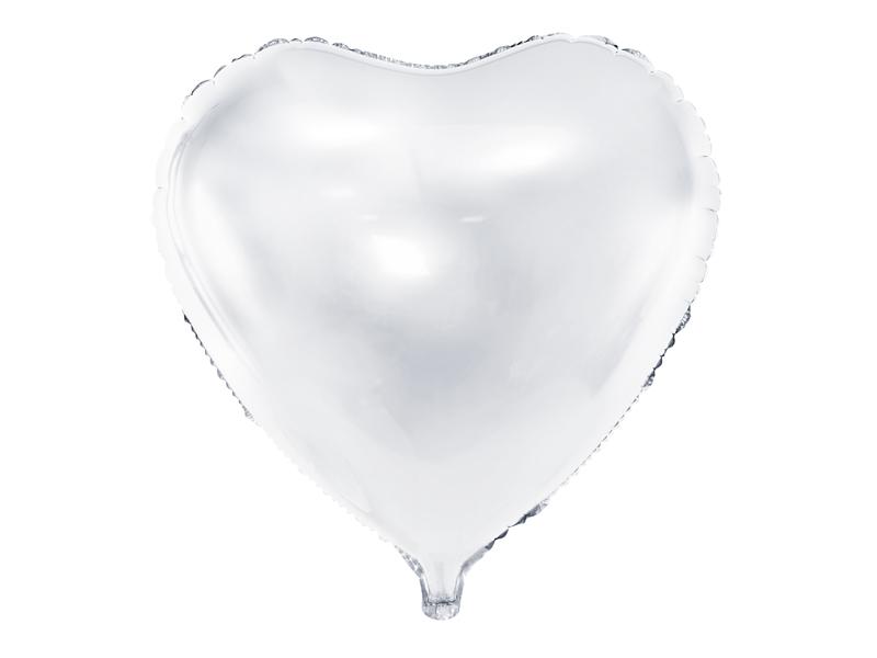 Ballon Mylar Coeur Blanc 45 cm