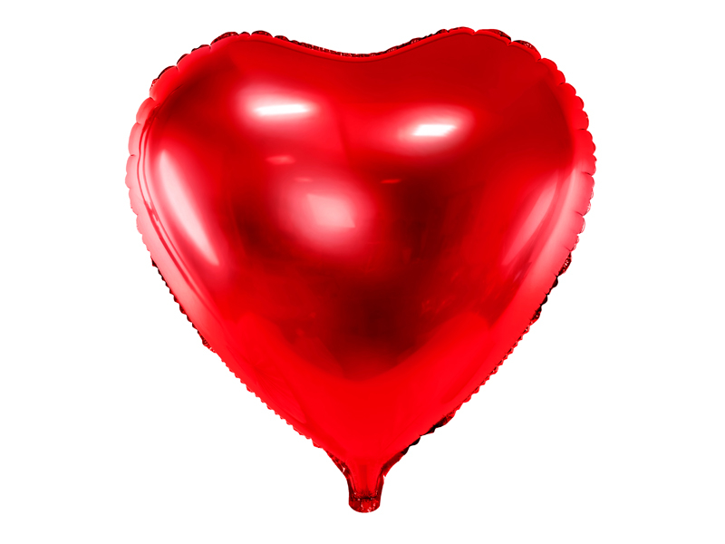 Ballon Mylar Coeur Rouge 45 cm
