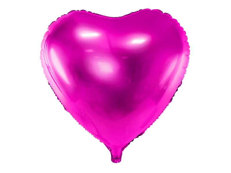 Ballon Mylar Coeur Fuschia 45 cm