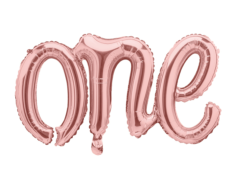 Ballon Anniversaire ONE rose gold