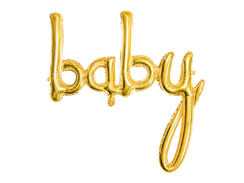 Ballon Lettres BABY Doré