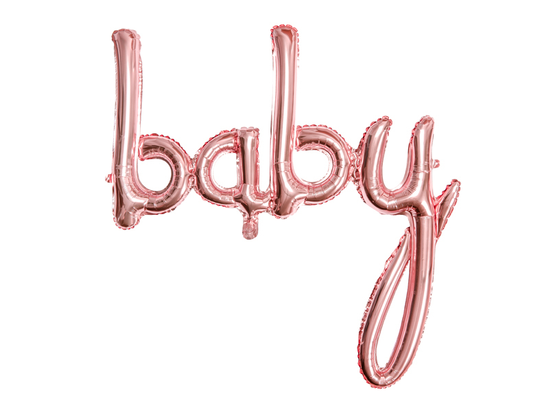 Ballon Lettres BABY Rose Gold