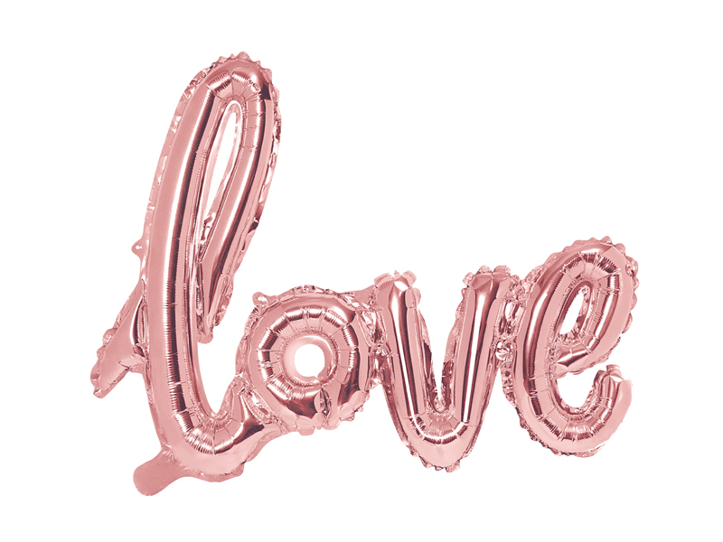 Ballons Lettre Love Rose gold