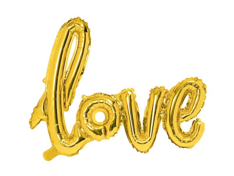 Ballon Lettre Love Doré