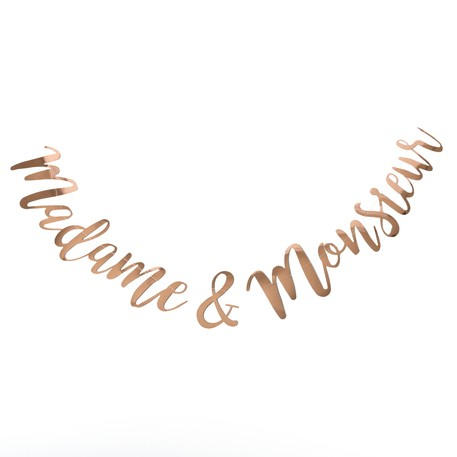 Guirlande Madame & Monsieur Rose Gold