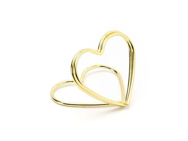 10 marques place coeur dorés