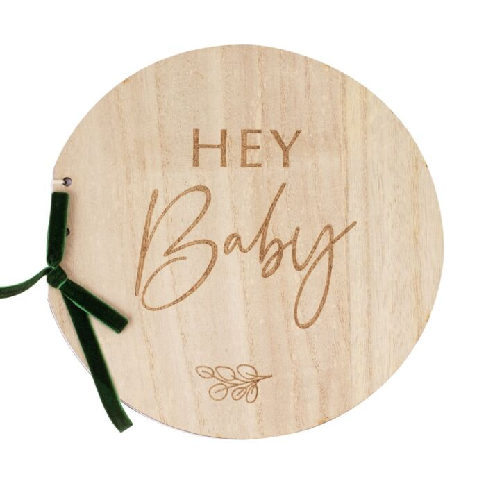 Livre d\'or Bois Hey Baby eco-responsable