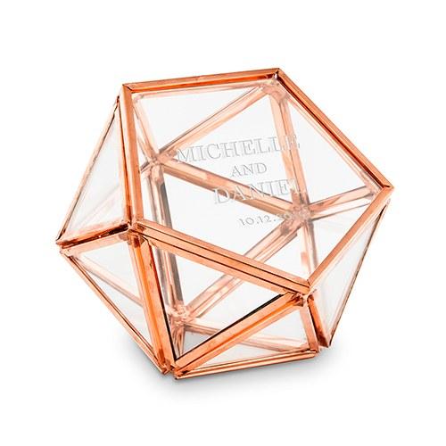 Boite à alliances prénoms hexagonale personnalisée