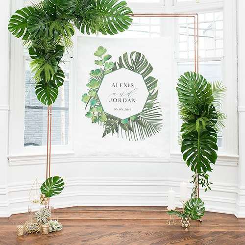 Petit Fond Photobooth Tropical personnalisable