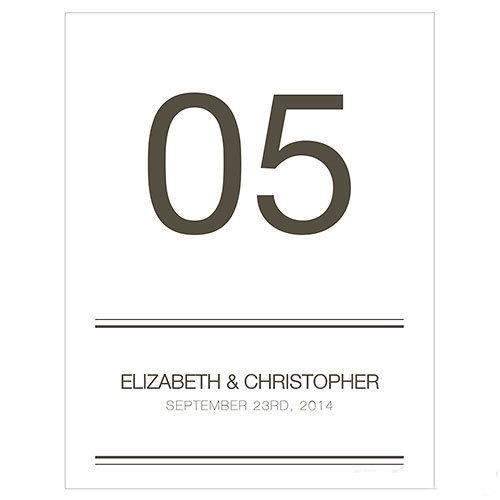12 cartons numéros de table Classique personnalisables