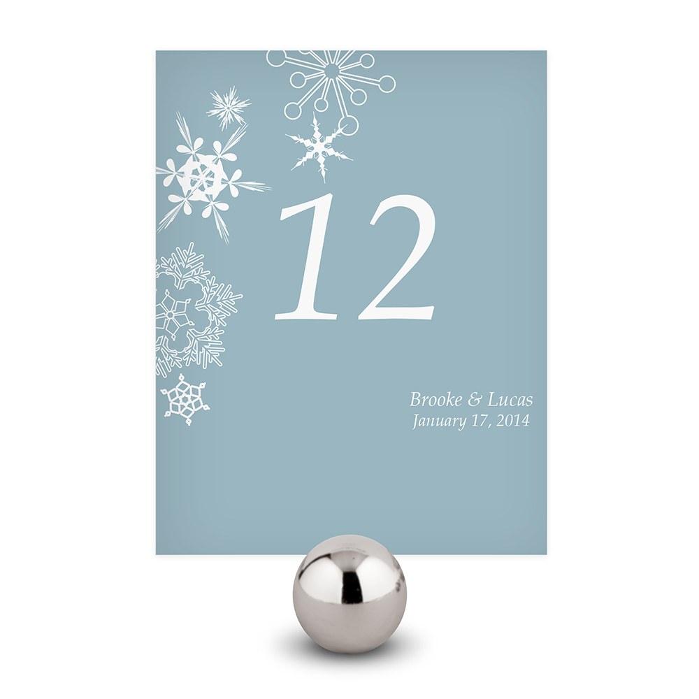 12 numéros de table motifs étoiles d\'hiver personnalisables