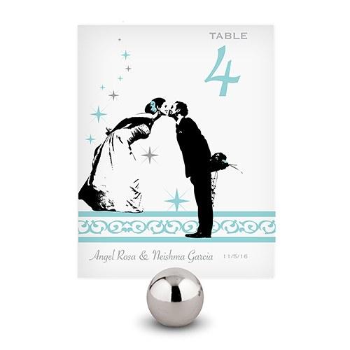12 Numéros de table Baiser des mariés à personnaliser