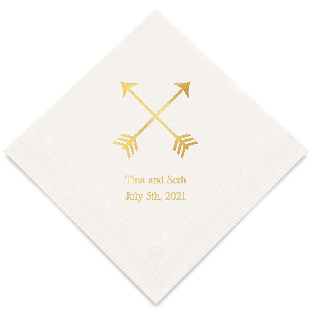 50 serviettes Flèches de Cupidon personnalisables