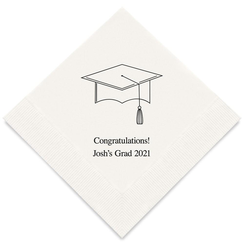 50 serviettes en papier Jeune Diplômé Personnalisées