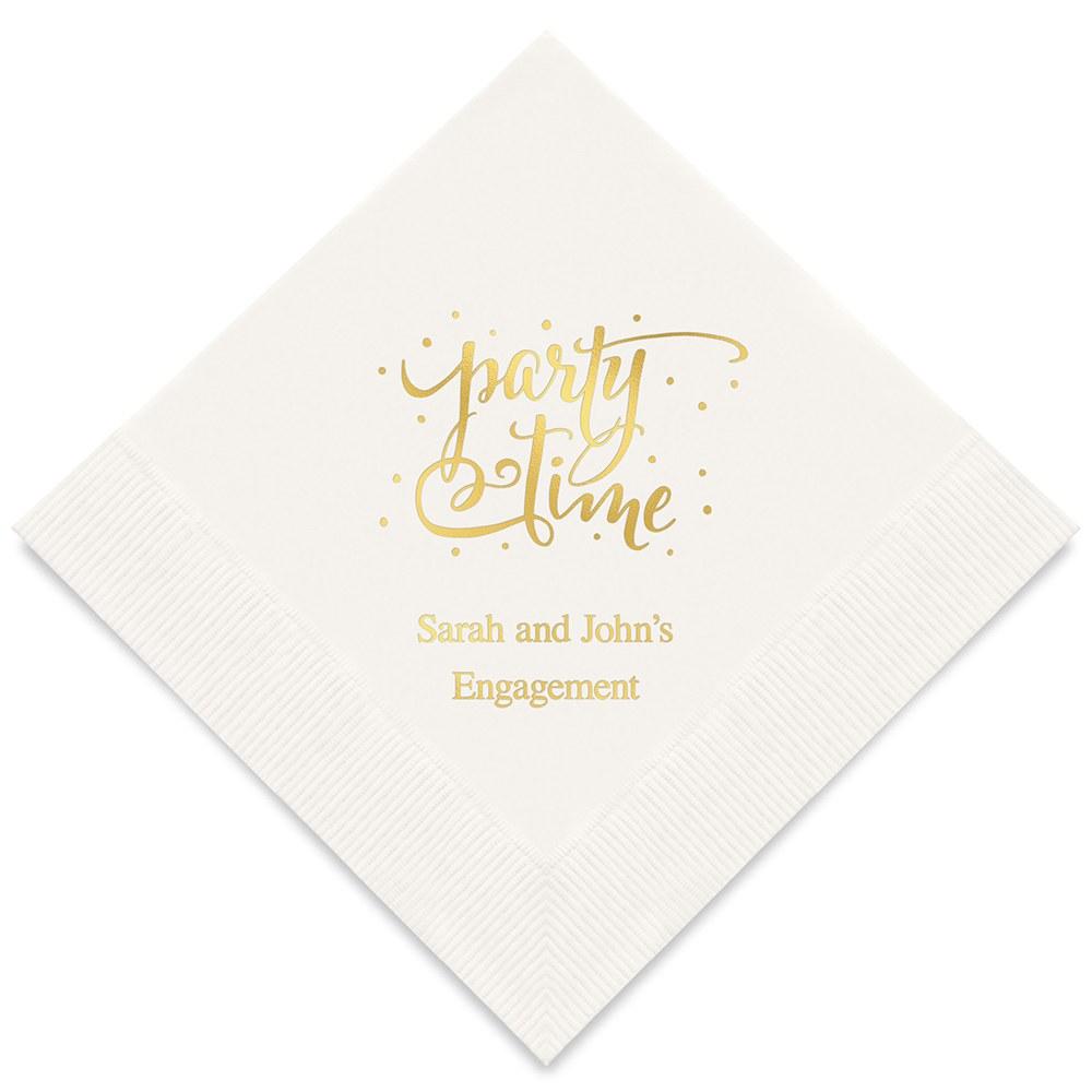 50 serviettes personnalisées Party Time