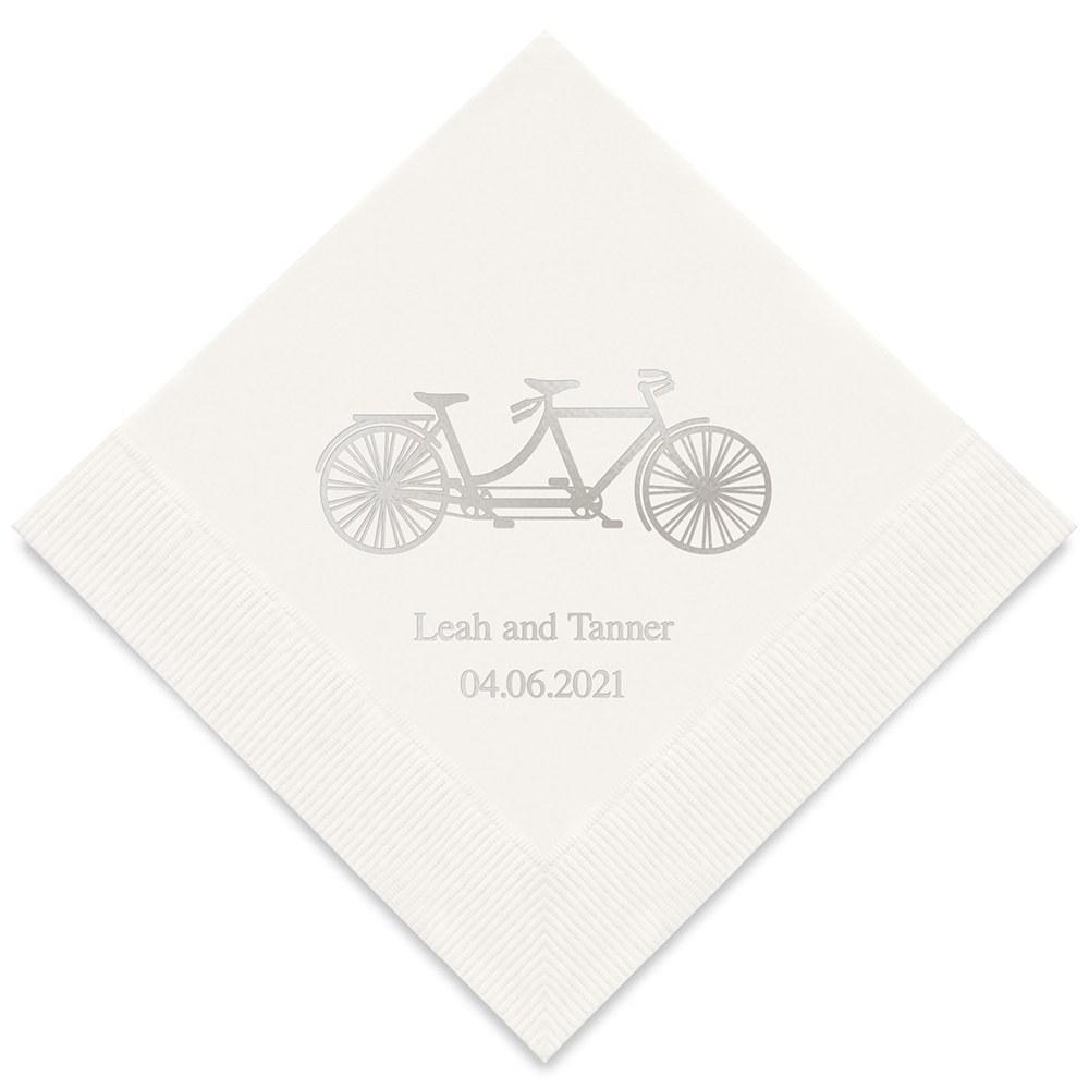 50 serviettes papier Tandem personnalisées