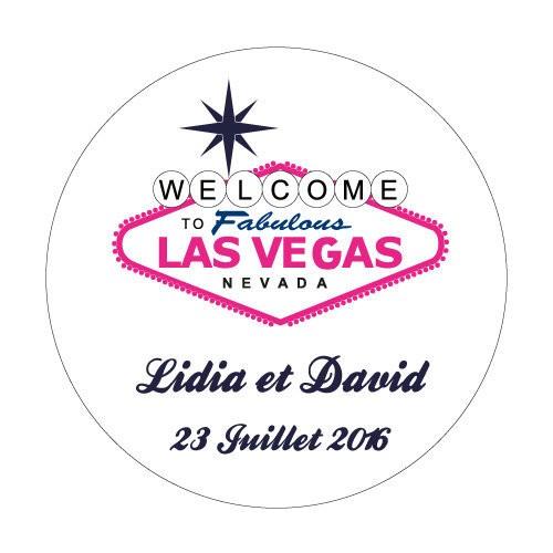 24 stickers Las Vegas Blanc