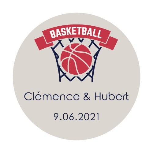 24 stickers Blason Basket
