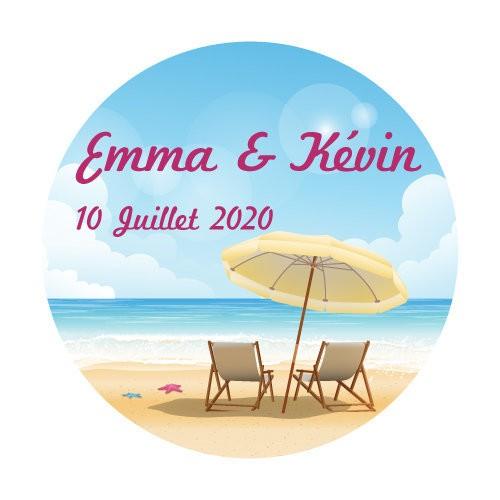 24 stickers Chaises longues et plage