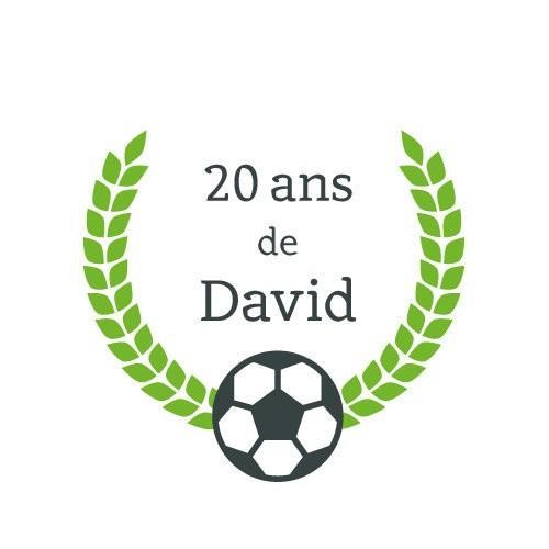 24 stickers Couronne et Ballon Thème Football