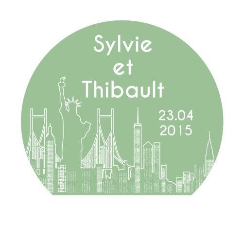 24 stickers New York City