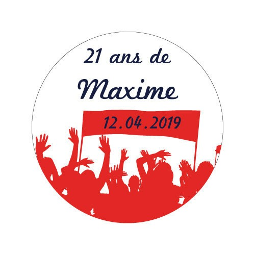 24 stickers Banderole et supporters Thème Football